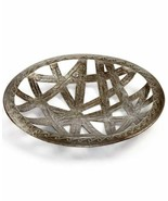 GLOBAL GOODS Heart Of Haiti Recycled Brown Metal Ribbon Cutout Tray Collection E - $48.50