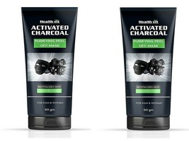 Healthvit Activated Charcoal Purifying Peel-Off Mask, 50 gm (pack of 2)  - $26.92