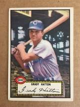 1952 Topps #6 Grady Hatton Baseball Card Cincinnati Reds VG Condition 20952 - $14.99