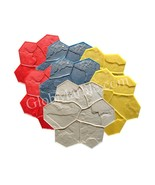 Concrete Stamp Mats. Set of 7pc. GlobMarble SM 1903. Random Stone Stamp... - $759.00