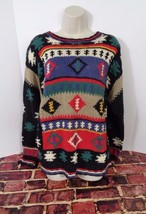 WOOLRICH Womens Chunky Knit Multi Color Crewneck Sweater Size XL Casual ... - $455,19 MXN