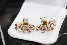 SALE* NEW AUTH Christian Dior 2019 CD DIORAINBOW CRYSTAL LOGO STAR Earrings image 4