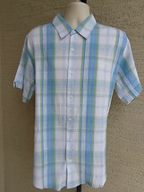 NWT $50 msrp SADDLEBRED XLarge  S/S STRETCH CRINKLE TEXTURED CASUAL PLAI... - $14.95