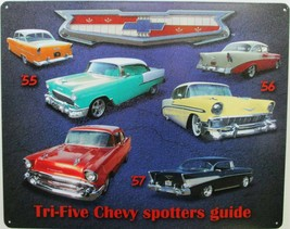 Tri-Five Chevy Spotters Guide Metal Sign - $19.95