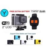 "BLACK AT300 12MP Full HD 30FPS 2"" LCD Waterproof Wifi Action Camera Wris... - $29.99"