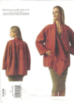 Vogue 1346 Donna Karan Waterfall Jacket Pattern Choose Size XS SM MED Uncut - $18.42