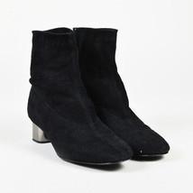 Robert Clergerie Black Suede Mirror Heel Ankle Boots SZ 38 - $135.00