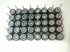 [NEW] HOT WHEELS 5/10 SPOKE RUBBER WHEELS TIRES CHROME 20 SETS 10MM 1/64... - $60.11