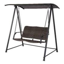 Mainstays Cassel Wicker Two-Seat Canopy Patio Swing - $223.99