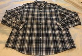 George Brand Men's Long Sleeve Blue Plaid Dress Shirt Sz Large 42/44 NEW - $14.88