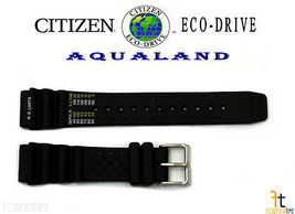 Citizen 59-L7404 Original Replacement Black Rubber Watch Band - $53.95