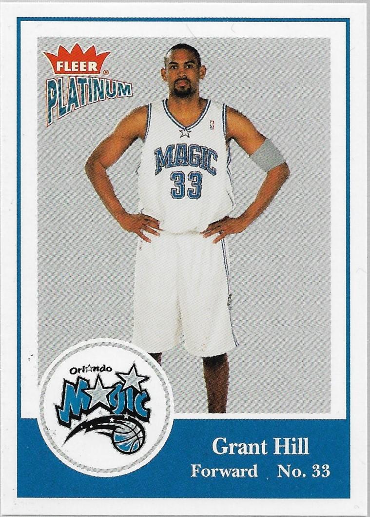 Grant Hill Fleer Platinum 03-04 #43 Orlando Magic Detroit Pistons Phoenix Suns