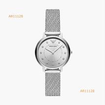 New Emporio Armani Silver Tone Mesh Bracelet Analog Women's Watch AR11128  - $201.95