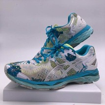 Asics Gel-Kayano 23 White Silver Blue Floral Women Running Shoes T6A5N S... - $35.68