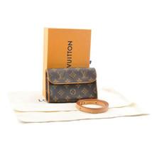 LOUIS VUITTON Monogram Pochette Florentine Bum Bag M51855 LV Auth 9006 - $580.00