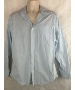 Banana Republic Button Down Long Sleeve Shirt SZ M 15 -15 1/2 Blue White... - $15.79
