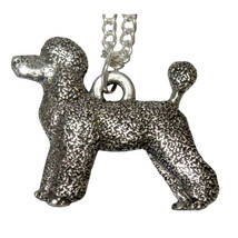 French Poodle Dog Necklace  1557 - $32.00