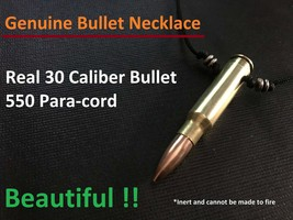 Handmade Genuine 30 Caliber Full Jacketed Bullet Necklace! Real Authenti... - $12.99