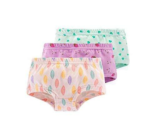 PANDA SUPERSTORE Set of 3 Soft Breathable Underwear Panties for Baby Girls-Style