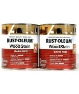 2 Cans Rust-Oleum 32 Oz Ultimate Wood Stain 330108 Barn Red Dries In 1 Hour - $27.99