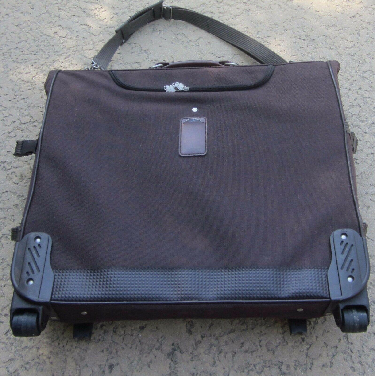 Skyway Large Brown Hanging Baggage Luggage Rolling Garment ...  Skyway Wheeled Garment Bags