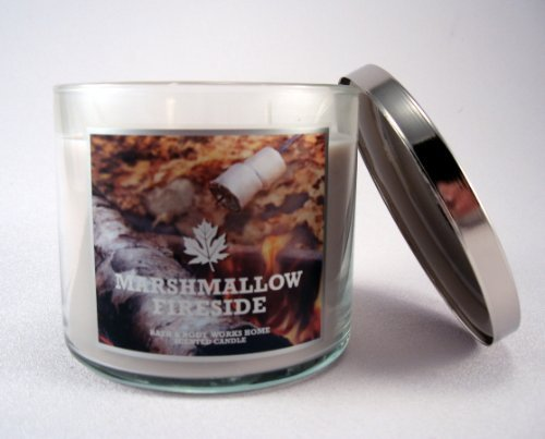 Bath & Body Works Marshmallow Fireside 3 Wick Candle 14.5 oz / 411 g