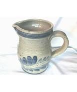 Vintage Salt Glaze 6 Inch Pitcher Yardley Library On Lake Afton Bucks Co... - $27.99