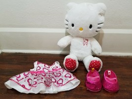 Build a Bear Hello Kitty Love White Plush with Heart Dress and Shoes - $21.32