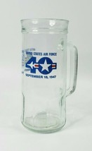 US Air Force USAF September 18,1947 40th Anniversary Tall Glass Beer Mug Cup - $14.65