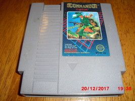 Commando (Nintendo Entertainment System, 1986) Cleaned and Tested - $7.91