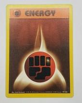 Pokemon Base Set 1999 Fighting Energy Card MP 97/102 TCG Trading Card Game - $0.99