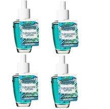 4 Bath & Body Works Turquoise Waters Wallflower Fragrance Refill Bulb - $29.99