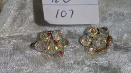 Vintage  crystal earrings So Downton abbey clip on  lot  107 redo - $40.00