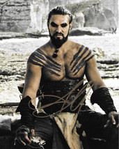 Jason Momoa as Khal Drogo on Game of Thrones TV Series Autographed 8 x 1... - $48.33
