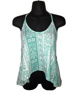 Ocean Drive Seafoam Green Teal Halter Top Shirt Medium M NEW NWT - $24.99