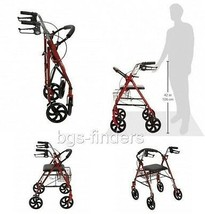 Medical Supplies Walkers for Elderly Seniors with Seat Rolling Drive Fol... - $71.58