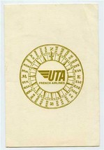 UTA Brunch Menu French Airline Papeete Compass Rose Cover - $27.72