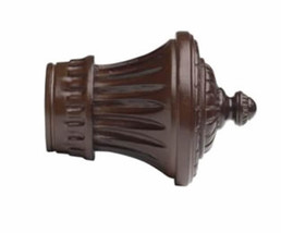 "Kirsch Wood Trends Classics Charleston Finial, for 2"" pole, Mahogany (#46802083) - $30.98"