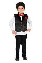 Kids Indian Wear Bollywood Style Shirt Waistcoat and Pant for Boys - $41.49
