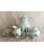 Walbrzych 8-piece Porcelain Floral on White Mocca, Espresso or Capachinn... - $44.99