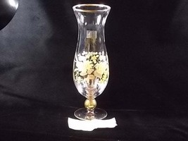 Viking Glass Fine Crystal Yellow Floral Tall Stemmed Flower Vase, Yellow Rose, B - $49.00