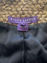 Brown Gold Ralph Lauren Collection Women Blazer Coat Jacket Sz 4 Made in USA image 8