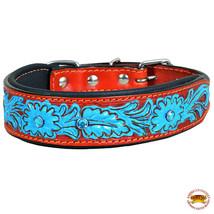 Strong Genuine Leather Dog Collar Padded Mahogany Hilason U-C118 - $25.49