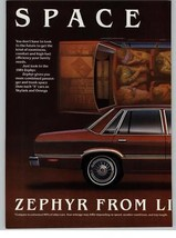 Lincoln-Mercury Zephyr Ford 1981 2 Page Print Ad - $11.75