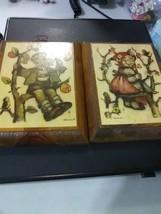 """2 Vintage Hummel Framed Prints - """"Boy and Girl in Apple Tree"""" - $6.43"""