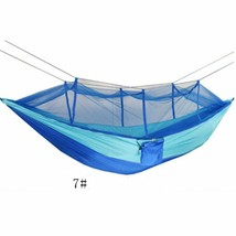 Portable Parachute Fabric Hammock with Mosquito Net For Outdoor Camping 7# - $25.08