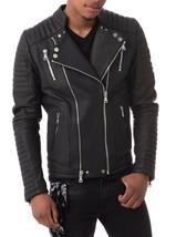 Mens Leather Jacket Stylish Genuine Lambskin Motorcycle Bomber Biker MJ 164 - $149.47