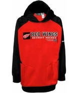 Detroit Red Wings Reebok Boy's Center Ice Performance Hooded Sweatshirt ... - $15.72