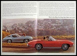 1964 Chevy Corvette Sting Ray Dealer Brochure, Vette GM Xlnt 64 - $10.43