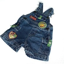 Disney Winnie The Pooh Overalls 12 Months Safari Shorts Tigger Denim - $18.68